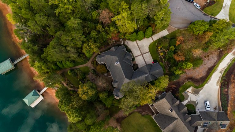 drone real estate photo